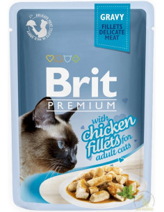 Brit Premium CAT Pouch Gravy Fillets With Chicken