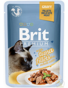 Brit Premium CAT Pouch Gravy Fillets With Tuna