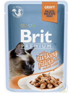 Brit Premium CAT Pouch Gravy Fillets With Turkey