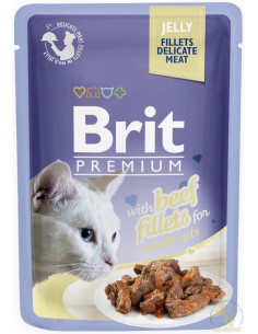 Brit Premium CAT Pouch Jelly Fillets With Beef