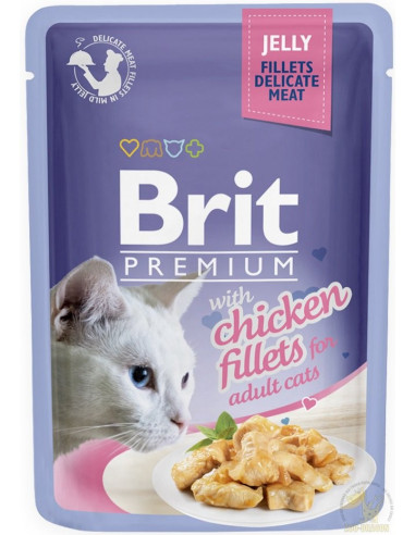 Brit Premium CAT Pouch Jelly Fillets With Chicken