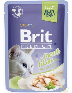 Brit Premium CAT Pouch Jelly Fillets With Trout