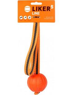 Liker Line 5 Piłka na taśmie z pętlą dla psa Collar