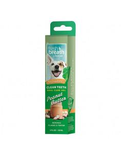 TropiClean Fresh Breath Clean teeth oral care gel peanut butter