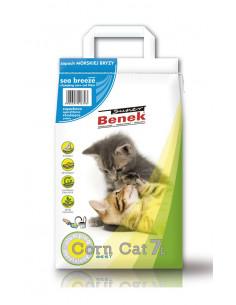 CERTECH Super BENEK Corn Morska Bryza - żwirek dla kotów kukurydziany zbrylający