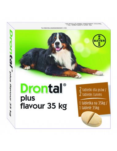 Bayer Drontal Plus Flavour 35 kg dla dużych psów