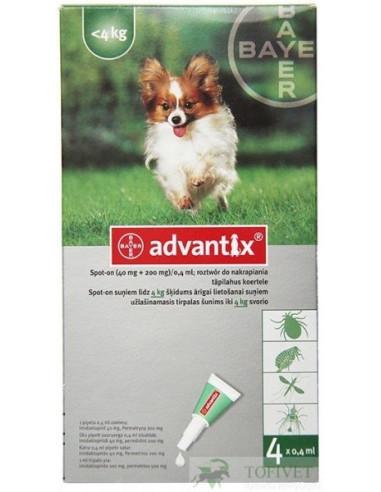 Bayer Advantix Spot-on dla psów o masie do 4 kg