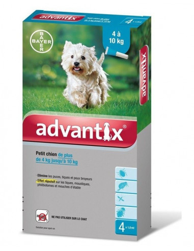 Bayer Advantix Spot-on dla psów o masie 4-10 kg