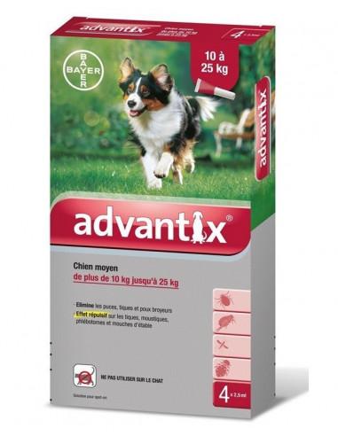 Bayer Advantix Spot-on dla psów o masie 10 - 25 kg
