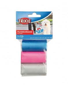 Trixie Woreczki na psie odchody - kolorowe 3x15 szt.
