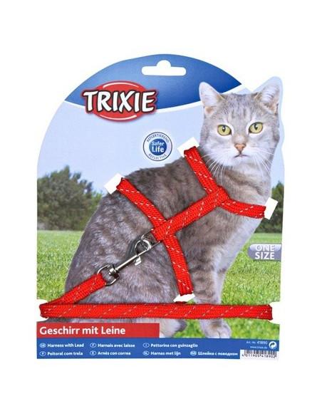 Trixie Szelki ze smyczą z nylonu dla kociąt odblaskowe