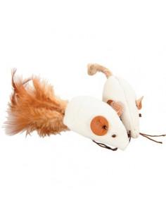 ZOLUX Zabawka dla kota 2 myszy z piórkami