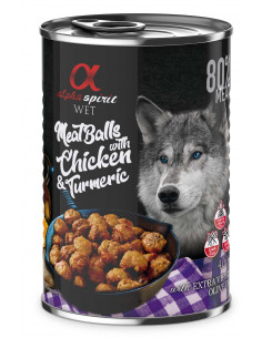 Alpha Spirit Mięsne klopsiki z kurczakiem i kurkumą